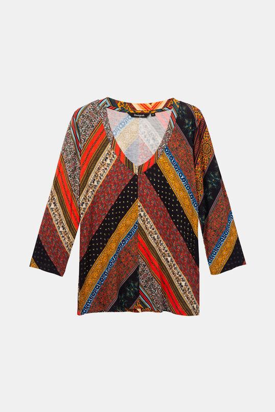 T-shirt boho couleurs automnales   Desigual