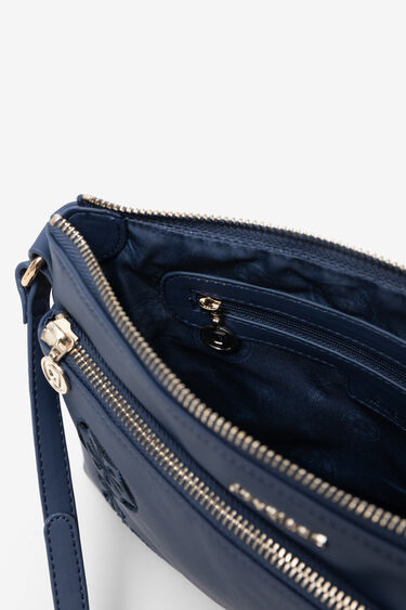 Embossed mandala sling bag   Desigual