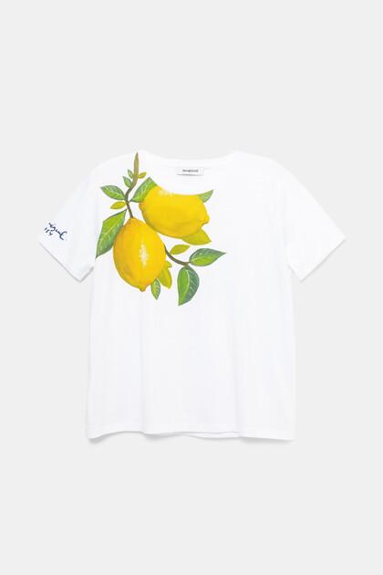 100% katoenen T-shirt met citroenen