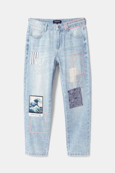 Patch boyfriend jeans | Desigual