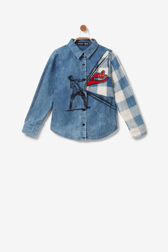 Camisa cotó Minime print efecte òptic | Desigual