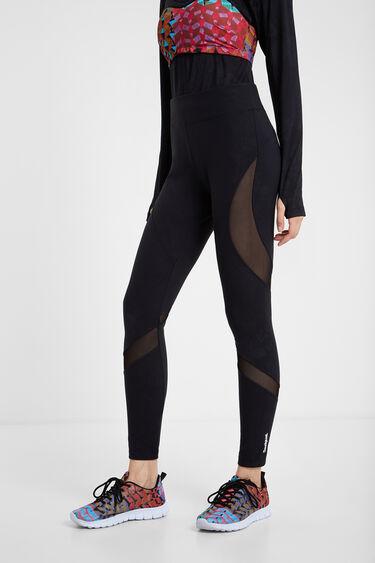 Black blocks mesh leggings | Desigual