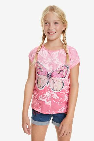 Camiseta degradado rosa Juneau