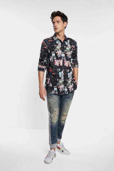 Arty slim shirt 100% cotton | Desigual