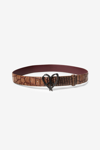 Reptile skin effect belt