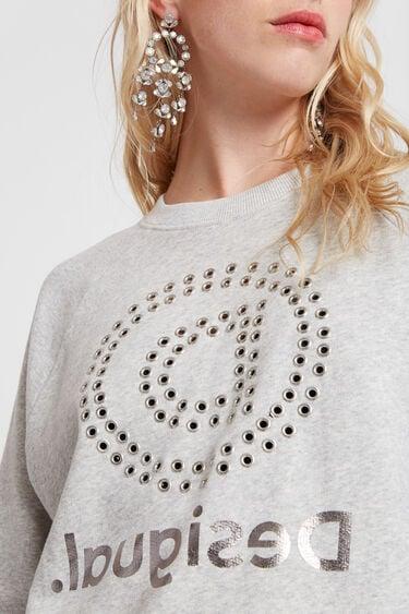Oversize sweatshirt eyelets and mandala | Desigual