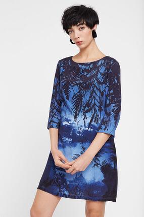 Shirt-Kleid mit orientalischer Landschaft