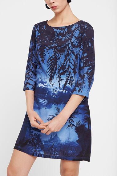 Oriental landscape T-shirt dress
