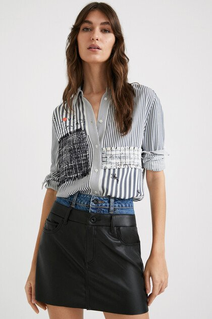 Striped shirt lettering