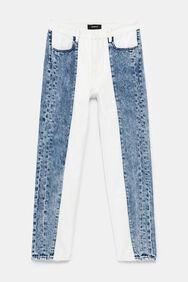 Pantalon en jean mum bicolore | Desigual