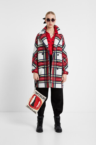 Cloth tartan coat