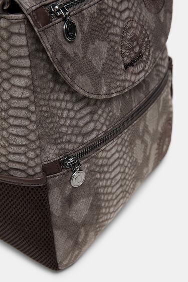 Średni plecak z wytłaczanej sztucznej skóry   Desigual