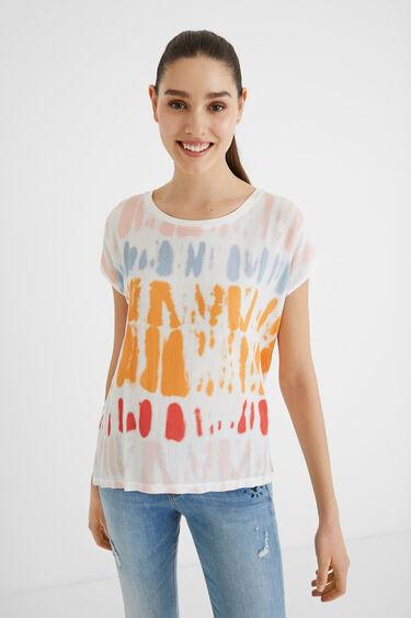 T-shirt de manga curta tie-dye | Desigual