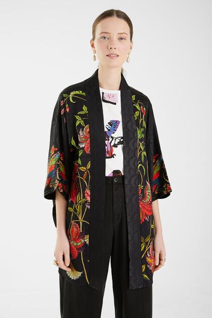 Jacquard kimono flowers