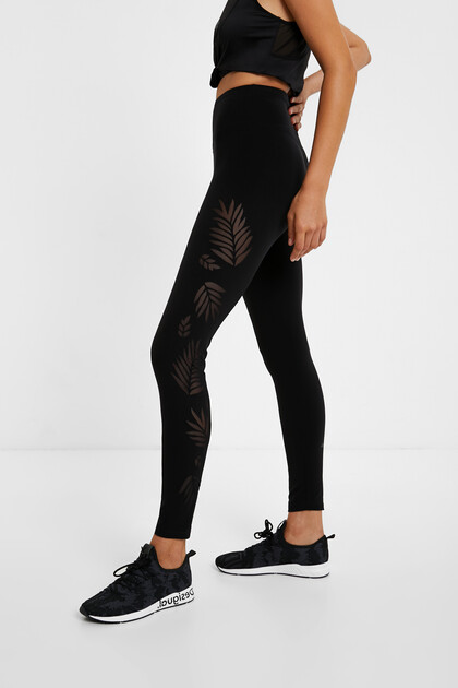 Legging slim perforé