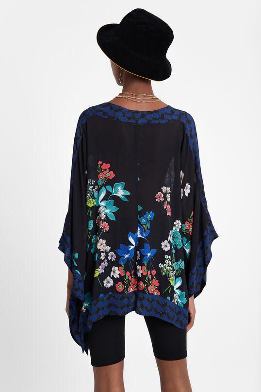 Blouse poncho floral | Desigual