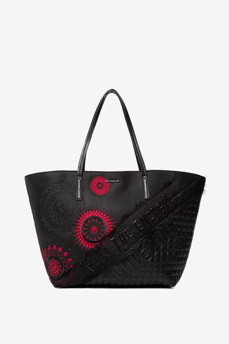 Embroidered mandalas bag