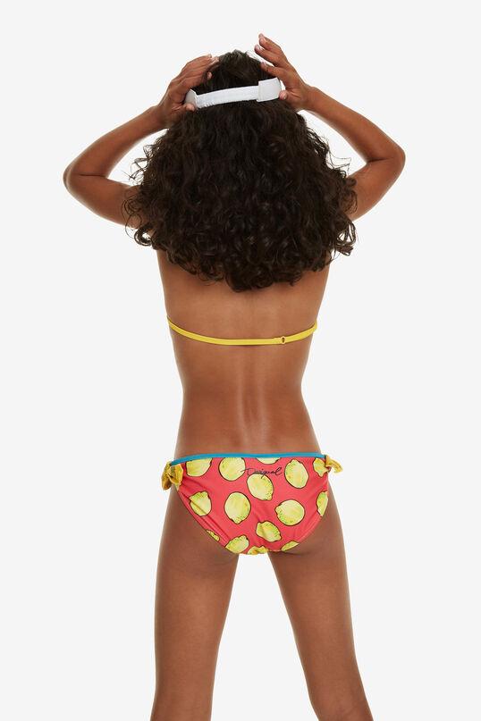 Ruffled Triangle Bikini Mangostan | Desigual