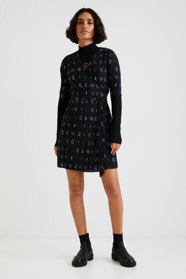 Pleated short dress | Desigual