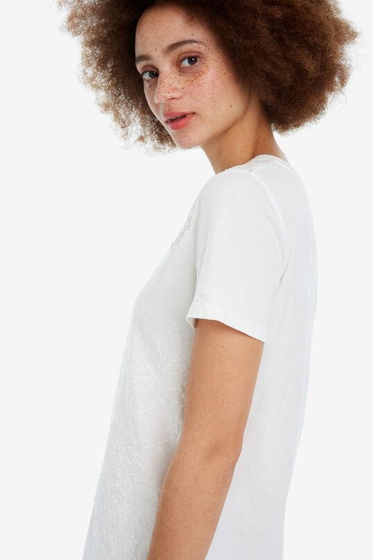 Black floral T-shirt White Flower   Desigual