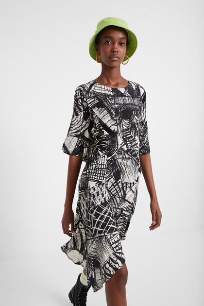 Vestido arty Black & White