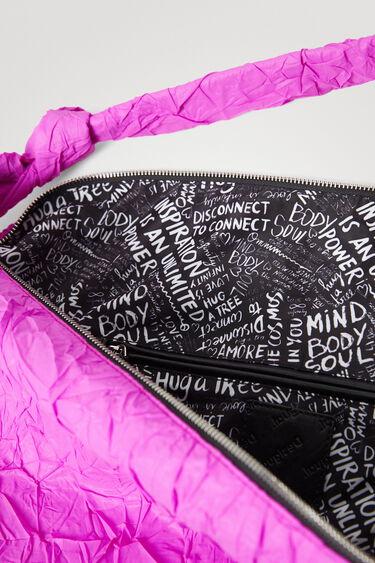 Shoulder bag efecto papel arrugado | Desigual