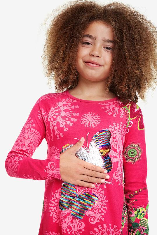 Butterfly dress reversible sequins | Desigual