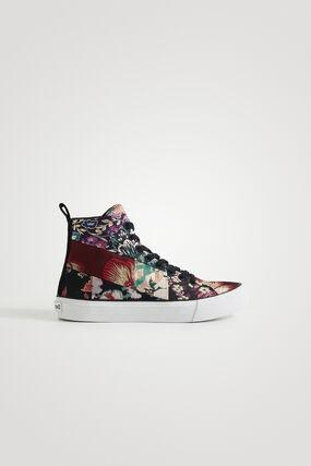 Zapatillas bota patch floral