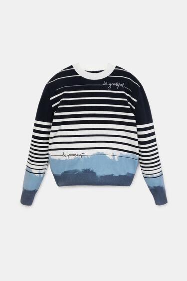 Jumper stripes messages | Desigual