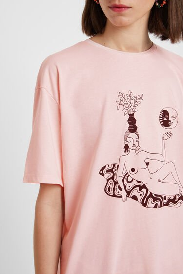 Illustrated woman T-shirt | Desigual