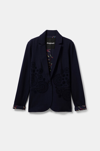Fitted blazer with mandalas