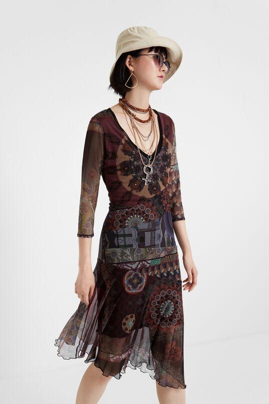 Boho multilayered dress | Desigual
