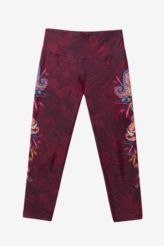 Side floral patch leggings | Desigual