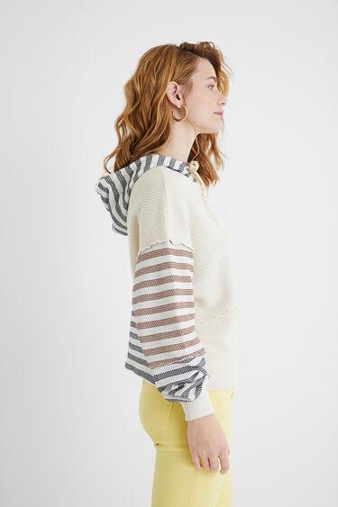 Sudadera capucha rayas | Desigual
