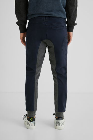 Hybrydowe spodnie joggery typu cargo   Desigual