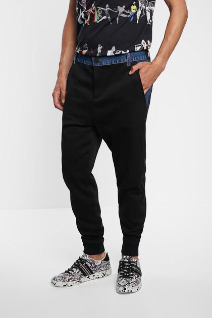 Jogging trousers plush denim