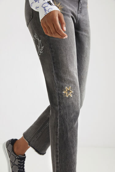 Cosmic straight cropped jeans | Desigual