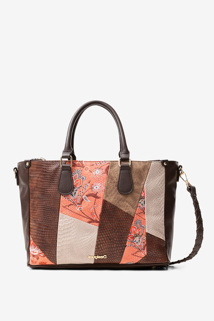 Bag floral and reptile patch
