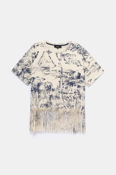 バイカラーフリンジ Tシャツ | Desigual