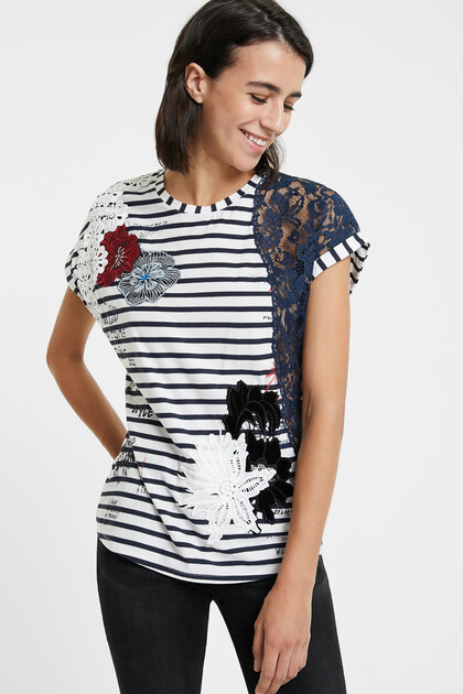 Lace sailor T-shirt