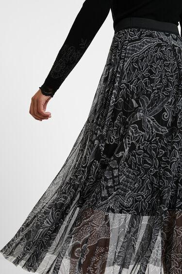 Falda midi plisada   Desigual