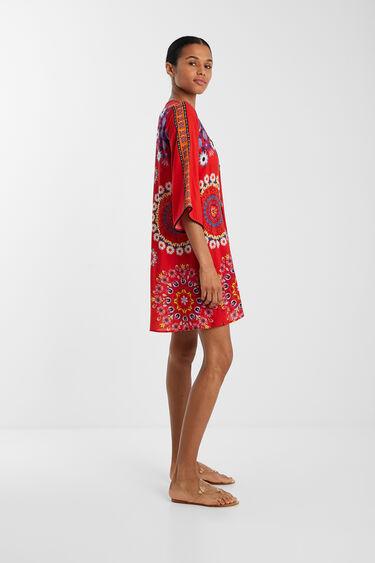 Vestido de praia com mandalas florais | Desigual