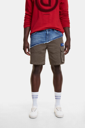 Hybridhose aus Jeans- und Cargo-Stoff