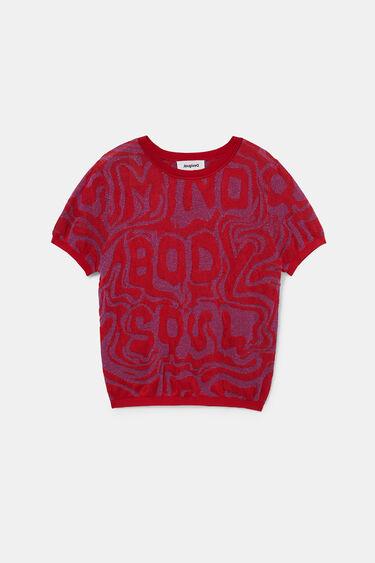 Jacquard knit T-shirt | Desigual