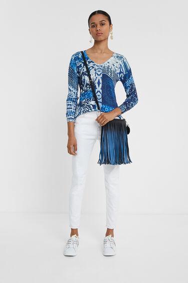 Maglia fine navy tie-dye | Desigual