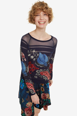 Fine-knit floral jumper Marsella