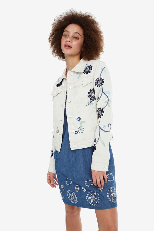 Floral Denim Jacket Blue Flower | Desigual