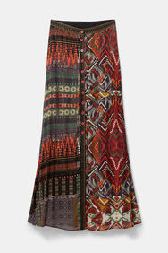 Buttoned ethnic skirt | Desigual