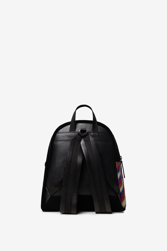 Mini-backpack with embroidery and sequins | Desigual