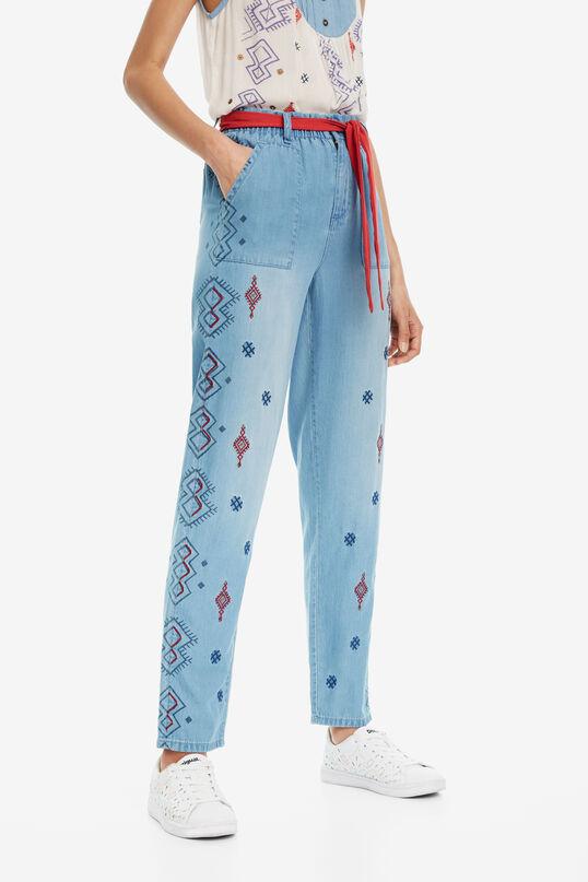 Embroidered Jeans Mekane   Desigual